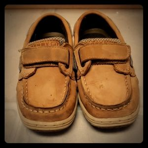 Toddler boy 10c leather boy sperry shoess